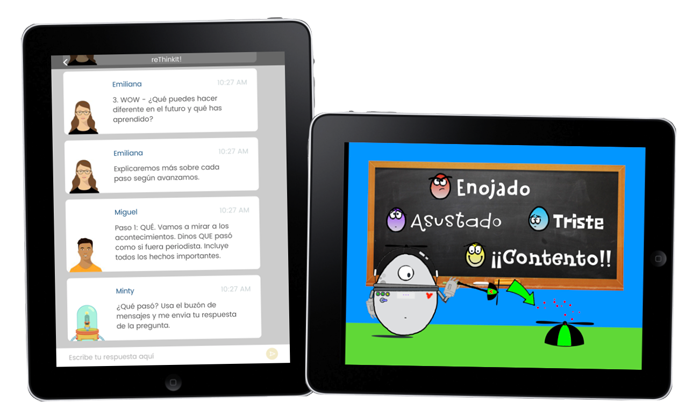 iPads with English and Spanish apps